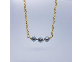 Náhrdelník 1 (bižuterní kov, voskové perle)1