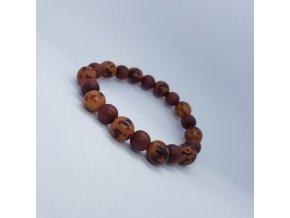 Pánský náramek (dřevo., palma buri)1
