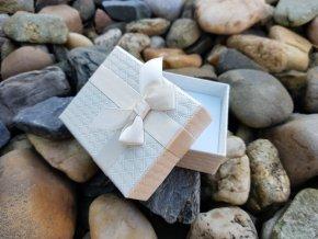Luxusní dárková krabička (krémová)1