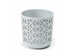 Plastový květináč Aztek 290 mm, světle šedý/světle šedý