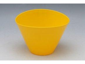 Plastový květináč Elipsa, žlutý