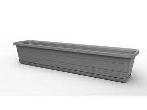 Plastový truhlík Bona s podmiskou, 600 mm, antracit
