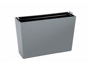 Truhlík Werbena lesklý 190x560 mm, šedý