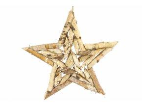 Hvězda z březových větviček Thabit 40x40x2,5 cm