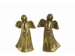 Anděl Ashriel s hvězdou 14,5 cm zlatý, mix druhů