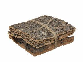 Přírodní podložka z kůry kaštanu s/5 ks, 20x20x10 cm