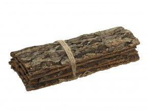 Přírodní podložka z kůry kaštanu s/4 ks, 30x13x10 cm