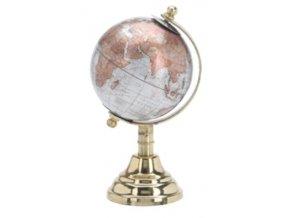 Otočný globus stříbrný