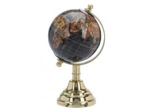Otočný globus černý sm.