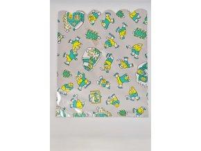 Vánoční celofánový sáček - sněhuláci, zelený 26,5x33,5 cm