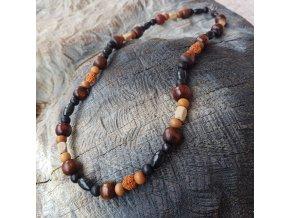 Endy 2 Pánský náhrdelník (dřevo, semínka)1