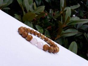 Mewa Náramek (růženín, achát, Ag)1
