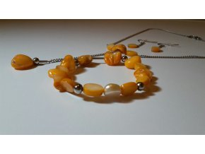 1415 orange souprava s perleti