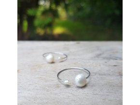 Perlení 3 Prstýnek (perly, ocel)1