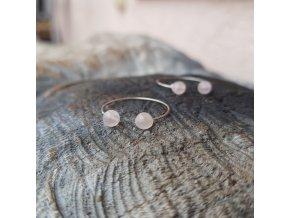 Rose Prstýnek (ocel, růženín)1