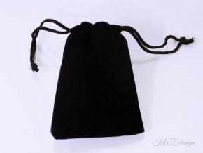 Luxusní černý sametový sáček (Velikost 7 x 9,5 cm)