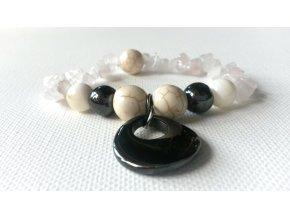 401 naramek odvaha ruzenin perlet hematit