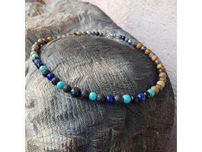Greg Pánský náhrdelník (minerály, lávový kámen)1