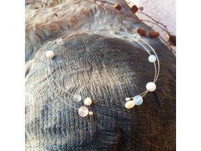 Levitace 8 Náhrdelník (minerály, perly)1