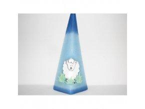 Svíčka Pyramida - Velikonoce ovce, pozadí modré