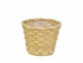 Bambusový košík krémový 12x15 cm