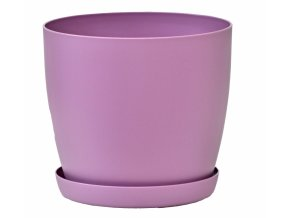 Květináč s podmiskou Aga, 120 mm, fialový