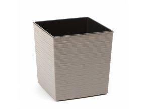 Plastový květináč Juka vroubek ECO 190x190 mm, šedý
