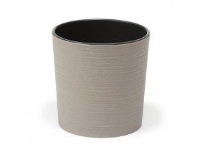 Plastový květináč Malwa ECO 300 mm vroubek, šedý