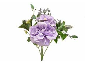 Kytice pivoněk 40 cm, fialová