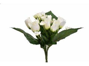 Kytice růží 26 cm, bílá