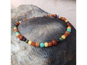 Paul 3 Pánský náhrdelník (rudraksha, minerály)1