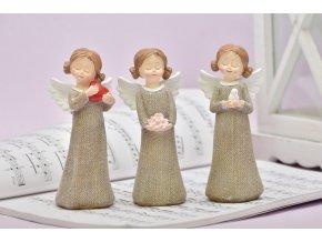 Anděl Rozárka 14 cm, hnědý