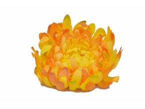 Vazbová chryzantéma 15 cm, světle oranžová
