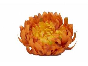 Vazbová chryzantéma 15 cm, tmavě oranžová
