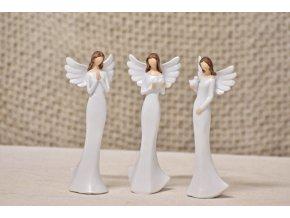 Anděl bílý 14,5 cm, mix druhů