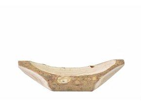 Dřevěný tác-lodička z Paulownie 41x11,5x12 cm