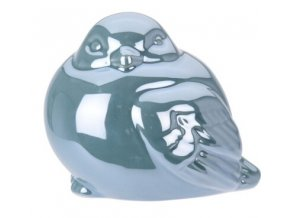 Perleťový ptáček modrý 9,5x8x8 cm