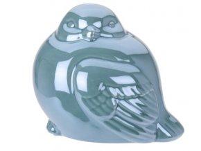 Perleťový ptáček modrý 12,5x10x10,5 cm