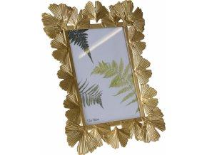 Kovový fotorámeček Ginkgo gold 26x21,5 cm
