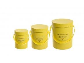 Flower box žlutý, sada 3 ks