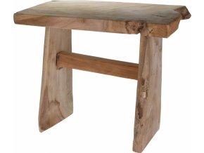 Dřevěná stolička Teak 42x26x35 cm