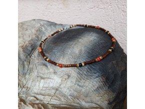 Bill 2 Pánský náhrdelník (korál, onyx, dřevo)1