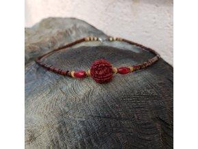 Aghas Pánský náhrdelník (dřevo, rudraksha)1