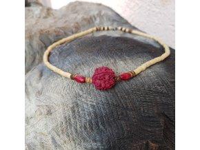 Aghas 2 Pánský náhrdelník (dřevo, rudraksha)1