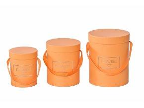 Flower box oranžový, sada 3 ks