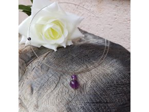 Levitace 26 Náhrdelník (ametyst, granát, perla)1