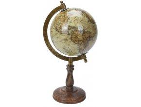 Otočný globus na vysokém podstavci 28x15,5x13 cm, krém