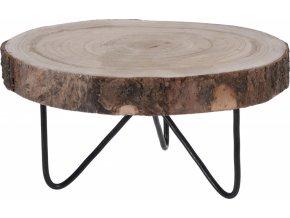 Dřevěný stojan Paulownia na kovových nožkách 30x13 cm