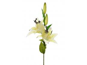 Umělá lilie 74 cm, světle žlutá
