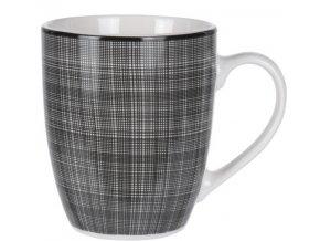 Porcelánový hrnek Weaving 350 ml, černý